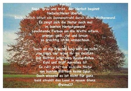 Über herbst gedicht Gedicht zum