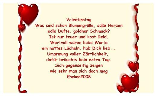 Valentinstag sms gedichte